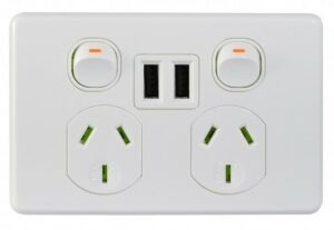 Trader premium double power point with dual USB Charger